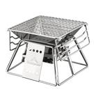 超小不銹鋼燒烤爐 情侶燒烤1~2人 戶外燒烤架 家庭木碳小型燒烤爐【七月特惠】