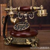仿古電話機歐式電話機復古電話辦公家用美式創意固定古董座機QM 美芭