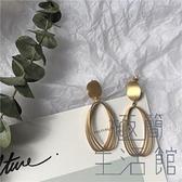 韓國小眾設計感復古耳釘造型耳夾氣質磨砂耳環女【極簡生活】