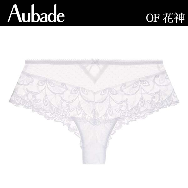Aubade花神S-L刺繡平口褲(白)OF