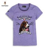 Hush Puppies  女裝美式復古刺繡狗頭T恤