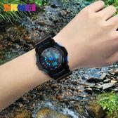 時刻美防水運動電子錶兒童初中學生特種兵戶外潮流多功能男女手錶