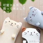 毛絨玩具 日本貓咪座椅靠墊辦公室腰靠現代簡約卡通可愛家用沙發抱枕靠墊 IGO歐萊爾藝術館