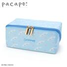 小禮堂 大耳狗 全開式方形尼龍拉鍊筆袋 防水筆袋 鉛筆盒 鉛筆袋 (藍) 4550337-90510