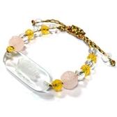 白水晶蓮花手排與粉晶黃水晶蓮花珠中國結手環