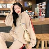 衣褲套裝秋冬季連帽T恤運動服套裝女韓版學生休閒九分褲上衣兩件套新品