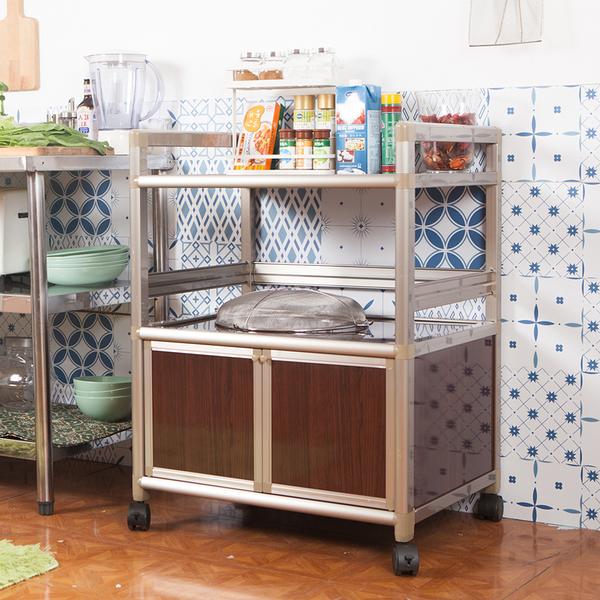 輕量鋁合金收納櫃[雙門2.5尺]【JL精品工坊】鋁櫃 廚房櫃 收納櫃 電器架 活動櫃 鋁合金櫃