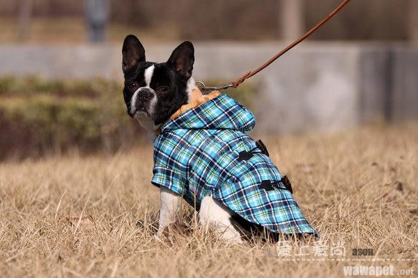 寵物服裝秋冬牛角扣大衣小狗狗衣服