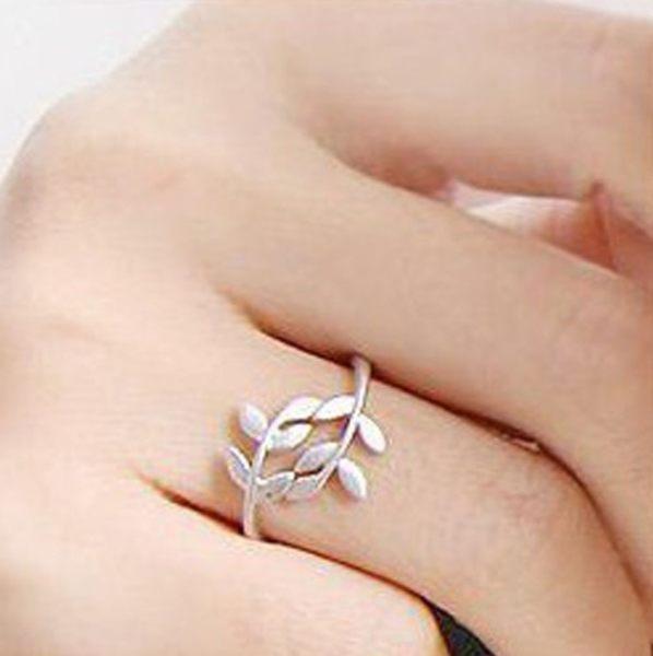 韓飾品 樹枝 樹葉 愛情 葉子 防身戒指 指環