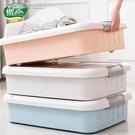 收納箱床底收納箱帶滑輪扁平塑料收納盒衣服物抽屜式儲物箱子床下整理箱YJT 快速出貨
