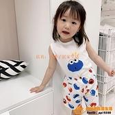 夏季兒童寶寶睡衣家居服背心組合裝無袖薄款男童女童空調服純棉卡通【小桃子】