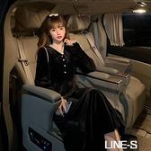 法式小眾蕾絲拼接黑絲絨V領長袖洋裝女裝秋季2020新款過膝裙子雙十一特價