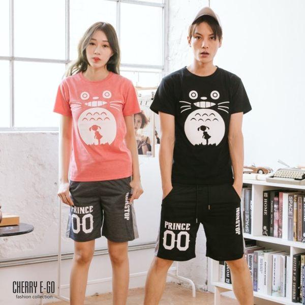 Cherry e購【KP4209】型男/情侶,春夏印花彈性棉質短褲_3色