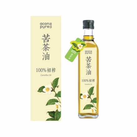 acon pure 連淨純苦茶油(第一道初榨) 500ml/瓶 現折再送小瓶苦茶油50ml 限時特惠
