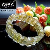 【KMK天然寶石】19顆(髮晶之王天然鈦晶-手排)