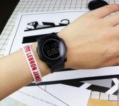 手錶 簡約運動手表港風電子錶 巴黎春天