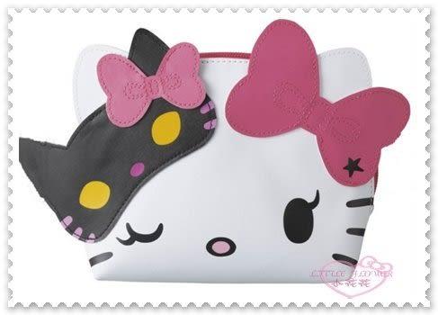 ♥小花花日本精品♥ Hello Kitty 大阪環球影城 萬聖節限定 貓女面具系列 化妝包 收納包 96512906