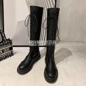 膝上靴 長靴女過膝2020新款夏季單靴軟皮百搭瘦瘦中筒春秋長筒高筒騎士靴 設計師生活百貨