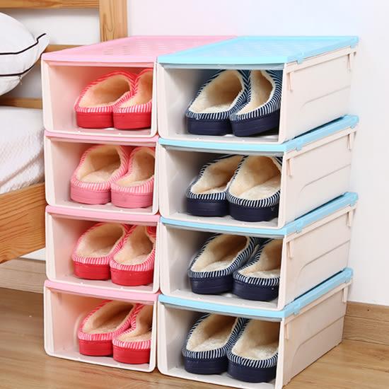 ♚MY COLOR♚抽屜式滑蓋鞋盒(加高5入) 透明 收納 置物 儲物 雜物 可疊加 加厚【W63】