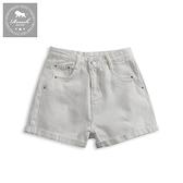 【Roush】 女生柔棉水洗牛仔短褲 -【6019】