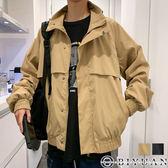 【OBIYUAN】外套 素面 剪裁 翻領 工裝 夾克 休閒外套 共2色【FJSSW27】
