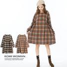 【KOMI】棉麻森林格紋大口袋洋裝 (1826-310892)