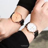 范倫鐵諾˙古柏 簡約刻度皮革錶 正品原廠公司貨【NEV34】單支售價