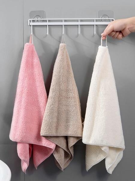 浴巾 居家家珊瑚絨成人加大吸水毛巾掛繩式男女家用加厚洗澡裹身大浴巾