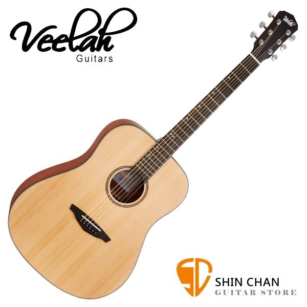 Veelah 吉他 VDSM 雲杉木 民謠吉他 贈調音器+配件包 D桶身 台灣公司貨【木吉他】
