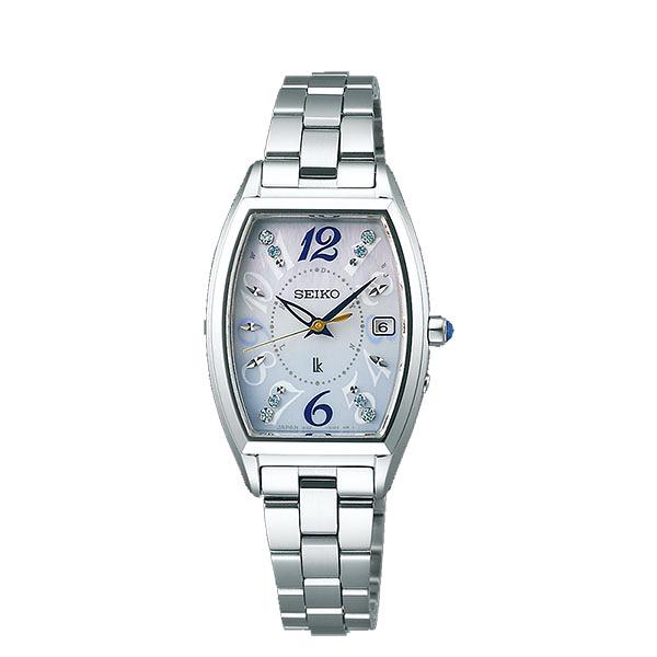 SEIKO 精工 LUKIA 太陽能電波腕錶(1B32-0AA0S SSVW123J)