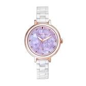【Relax Time】Aurora極光系列珍珠母貝半陶瓷時尚腕錶-珍珠紫/RT-92-3/台灣總代理公司貨享一年保固