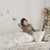 兩用被套床包組-單人【La Fleur】ikea風格  100%精梳棉 純棉 翔仔居家
