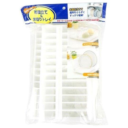 〔小禮堂〕可折疊V型塑膠碗盤架《白》餐具架.抹布架 4580297-23115