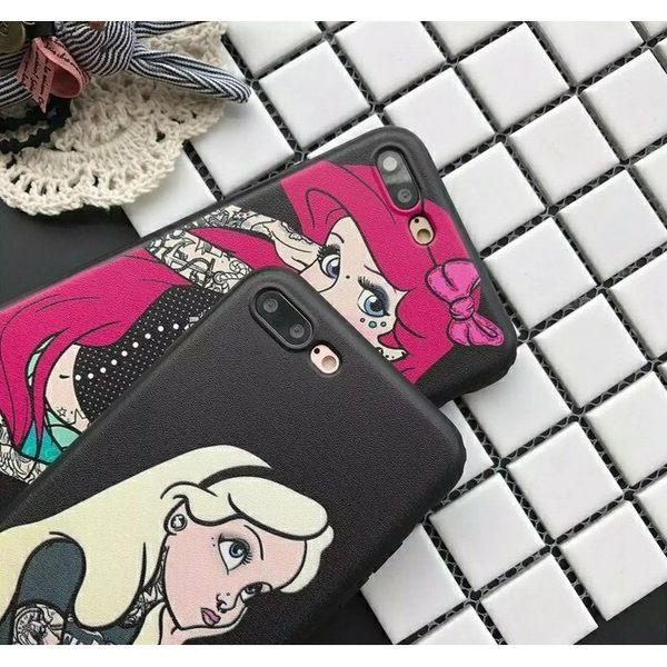iPhoneX手機殼 可掛繩 使壞的愛麗絲和美人魚 蠶絲軟殼 蘋果iPhone8X/iPhone7/i6