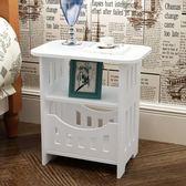 收納櫃 簡約床頭櫃現代客廳儲物小櫃子宿舍臥室簡易仿實木   IGO