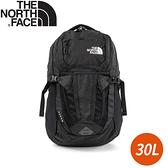 【The North Face 30L RECOM 舒適防護雙肩後背包《黑》】3KV1/雙肩背包/休閒背包/電腦包