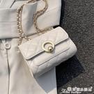 小方包 夏天洋氣小包包女包2021新款潮時尚錬條菱格包百搭側背斜背小方包 晶彩 99免運