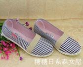 新品老北京工藝布鞋春款媽媽女戶外散步開車中年婦女月子防滑單鞋  糖糖日系森女屋