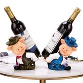 酒架置物架吉祥豬紅酒架家用歐式樹脂擺設酒架擺件創意葡萄酒架酒托【七夕節鉅惠】