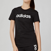 Adidas Essentials LINEAR 女款 黑色 LOGO 短袖 DP2361
