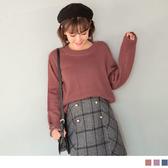 《FA1858-》鏤空圓圈造型針織毛衣 OB嚴選