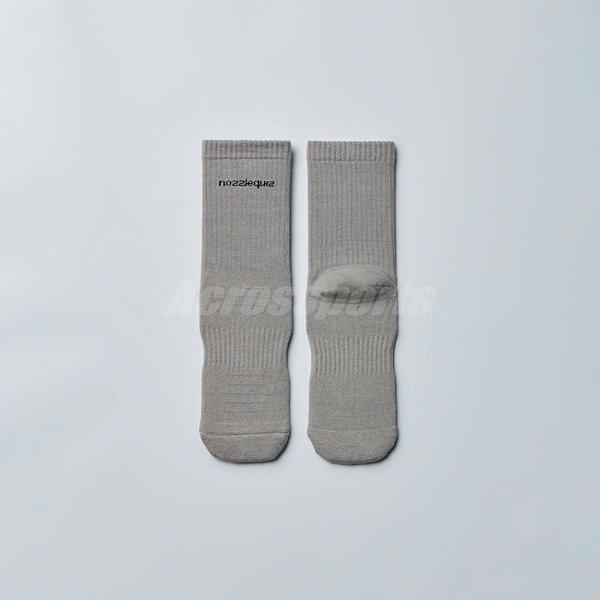 Nozzle Quiz 後研 Essential 基本款 灰啡 男女款 中筒休閒襪 單雙入 單一尺寸23cm-29cm【ACS】 ACBSSX02SN