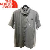【The North Face 男款 短袖襯衫《淺灰》】NF0A2SMT/快乾透氣/排汗襯衫/運動襯衫★滿額送