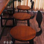 吧台椅 美式吧台椅實木歐式鐵藝酒吧椅吧凳現代簡約椅子 高腳凳 吧台椅 igo夢藝家