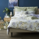 HOLA 夏槿灰天絲磨毛床包兩用被組 雙人