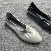 真皮休閒鞋 舒適女單鞋平底運動鞋