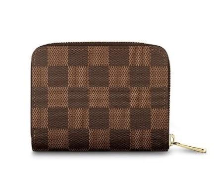 Louis Vuitton LV N63070 經典印花棋盤格紋名片短夾/零錢包~(未使用)