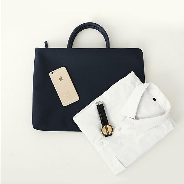公文包 公文包女手提職業韓版簡約時尚工作包男士商務大容量電腦包資料袋 新品