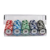 籌碼100碼0535 磨砂牌亞克力套裝面值顏色自選定制麻將籌碼幣 小宅女