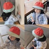 日系拼色兒童漁夫帽春夏女童帽子2019男童盆帽夏季防曬帽可愛童帽